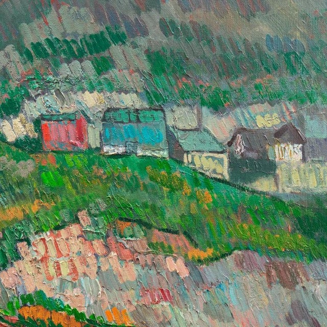 Johannes Carstensen Landscape With Village For Sale - Image 4 of 11