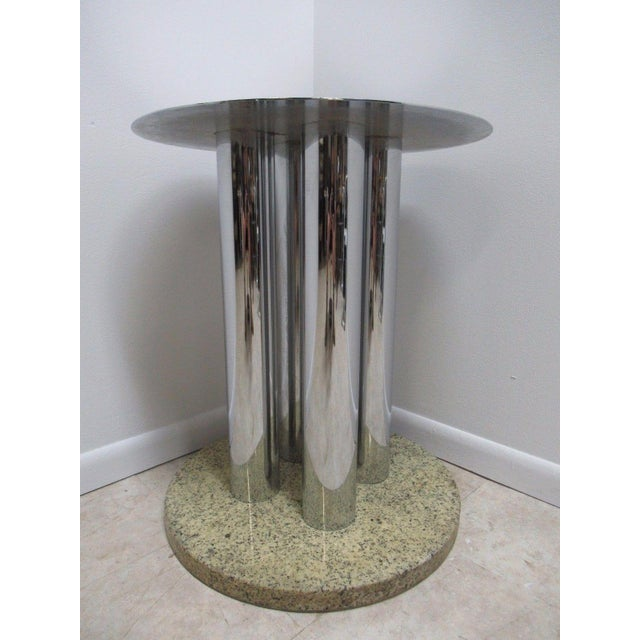 dining mounted round table pedestal on wood custom top base copper