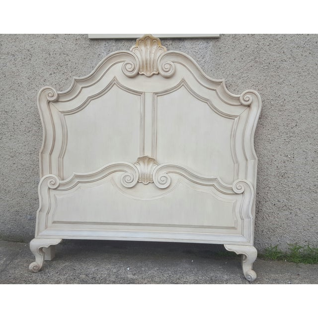 Victorian Ivory Queen Bed Frame - Image 6 of 7