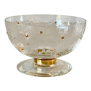 1995 Stephen Smyers Morocco Gold Line Dessert Bowls on Pedestal Hand Signed For Sale
