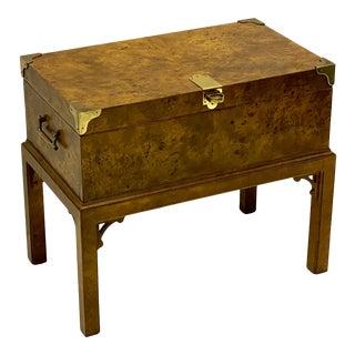 1970s Chippendale Style Burlwood Side Table Att. Henredon For Sale