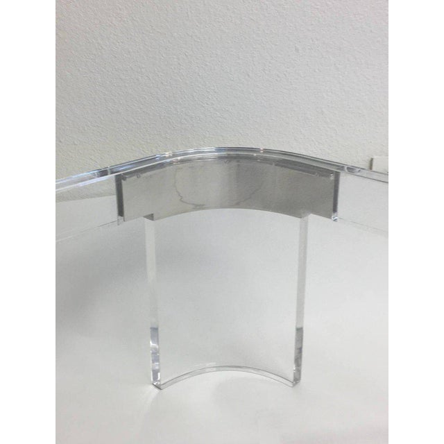 1970s Acrylic and Chrome Cocktail Table by Charles Hollis Jones For Sale - Image 5 of 7