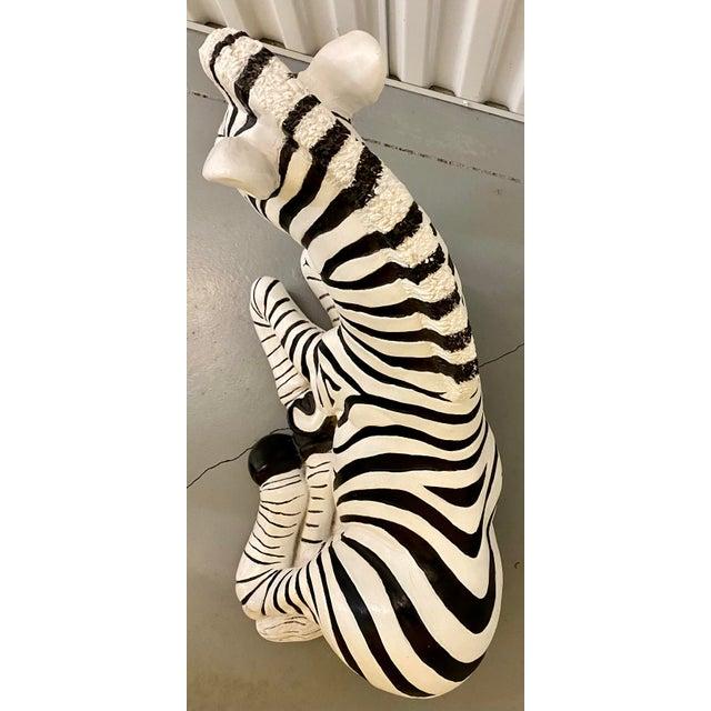 1960s Black & White Zebra Floor Sculpture For Sale In Saint Louis - Image 6 of 9