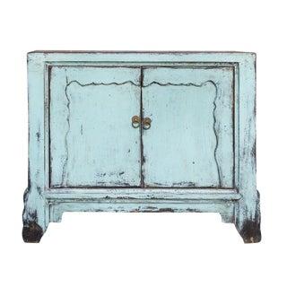 Vintage Powder Blue Cabinet For Sale