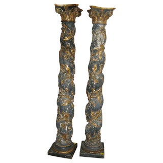 Pair of 17th Century Columns