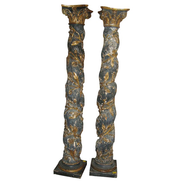 Pair of 17th Century Columns For Sale