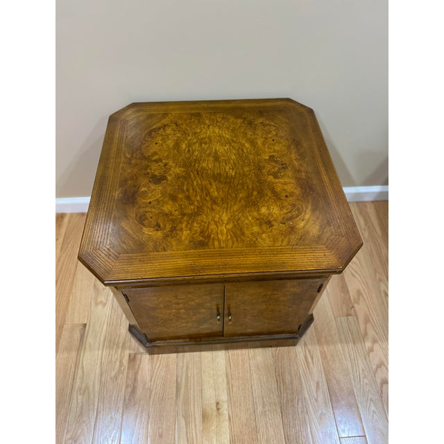 Drexel Heritage Vintage Drexel Heritage Wood Table With Storage For Sale - Image 4 of 8