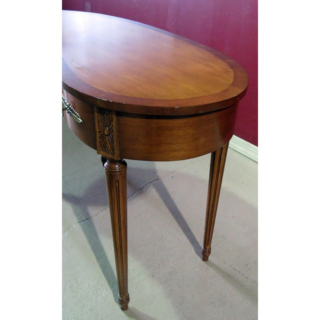 Louis XVI Style Inlaid Writing Desk For Sale - Image 4 of 6