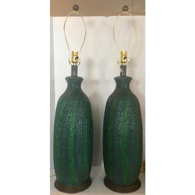 Contemporary Vintage Quartite Creative MCMLXV Table Lamps - A Pair For Sale - Image 3 of 8