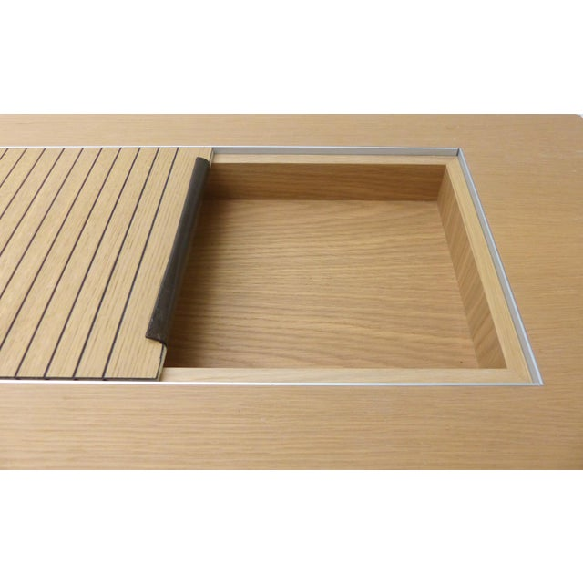 1990s Mobilidea Console With Rolling Tambour Blind on Top, Italy For Sale - Image 5 of 11