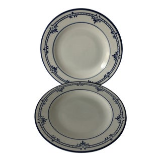 """Cera Stone by Mikasa Newport Blue Set of 2 Plates 8.25""""d For Sale"""