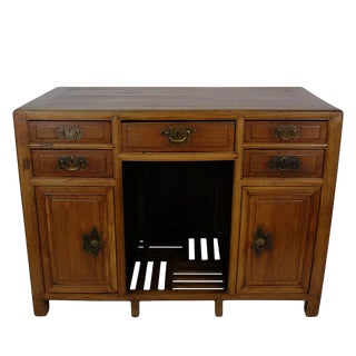 Antique Chinese Beech Wood Writing Desk For Sale