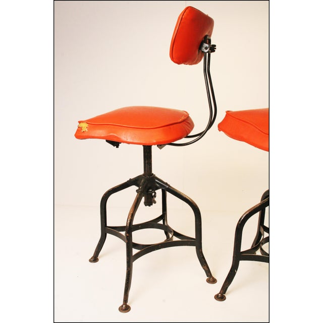 Vintage Industrial Toledo Drafting Stools - A Pair - Image 7 of 11