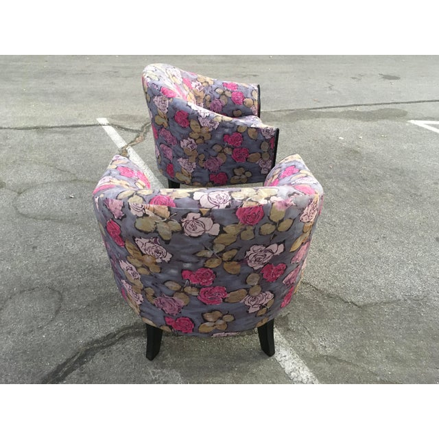 Wood 1990s Post Modern Club Chairs - a Pair For Sale - Image 7 of 10