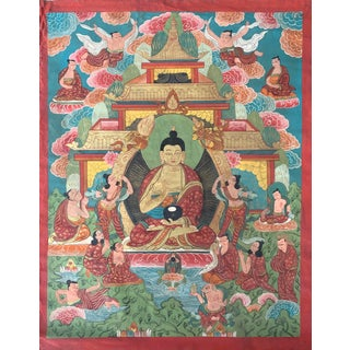 Early 20th Century Tibetan Thangka For Sale