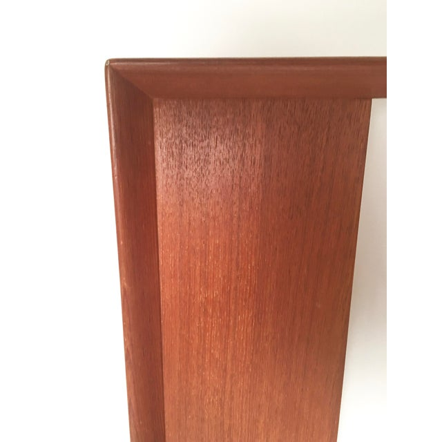Wood Danish Teak and Grass Cloth Double Sided King-Size Headboard by Falster For Sale - Image 7 of 8