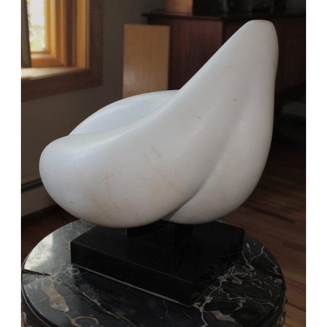 Abstract White Marble Sculpture For Sale In Palm Springs - Image 6 of 10