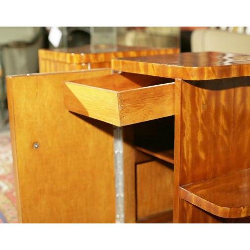 Art Deco Burl Wood Nightstands - A Pair - Image 8 of 8