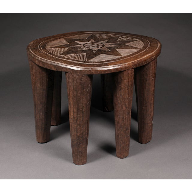 African Nupe Tribe African Stool For Sale - Image 3 of 4