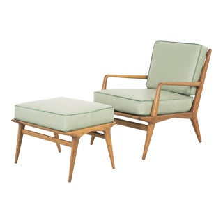 Carlo di Carli Lounge Chair + Ottoman For Sale