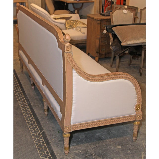French 1890 Antique French Grande Settee For Sale - Image 3 of 9
