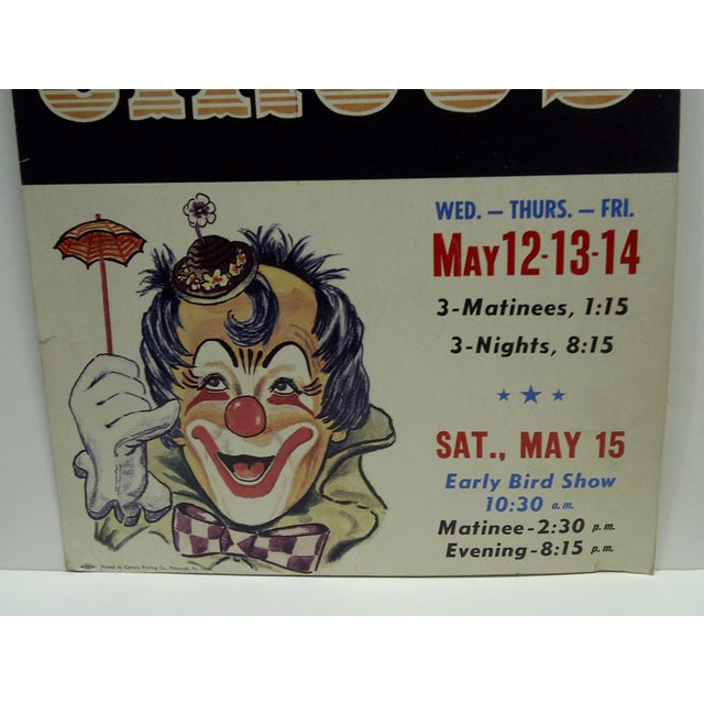 Circa 1960 Syria Temple Shrine 3-Ring Indoor Circus Poster For Sale - Image 4 of 5