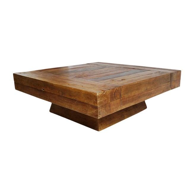 Modern Square Block Coffee Table Chairish