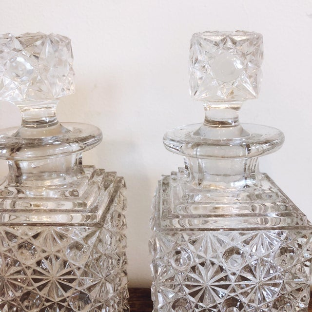Glass Decanters, Set of 2 For Sale - Image 4 of 8