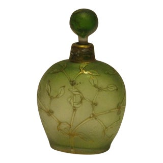 Antique Daum Nancy Glass Bottle For Sale
