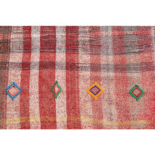 Vintage Turkish Multi Color Tribal Flat Weave Kilim - 7′11″ × 10′8″ - Image 2 of 4