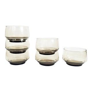 Vintage Brown Glass Coupes or Dessert Bowls - Set of 6 For Sale