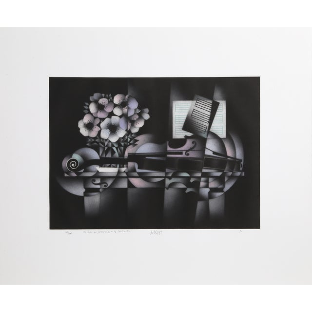 Modern Avati, Le Souvenir, Mezzotint For Sale - Image 3 of 3