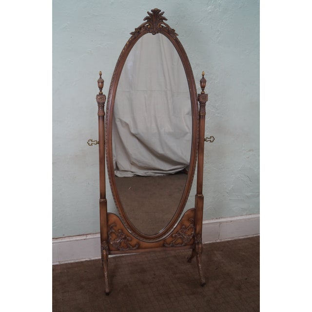 Vintage French Louis XV Style Chevelle Mirror - Image 2 of 10