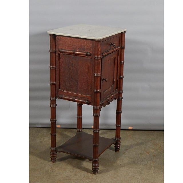 Faux Bamboo Nightstand For Sale In Los Angeles - Image 6 of 8