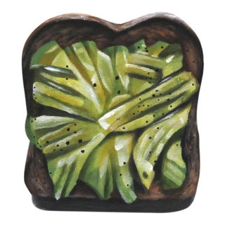 """""""Avocado Toast"""" Photo Realistic Painting by Erin Rothstein"""