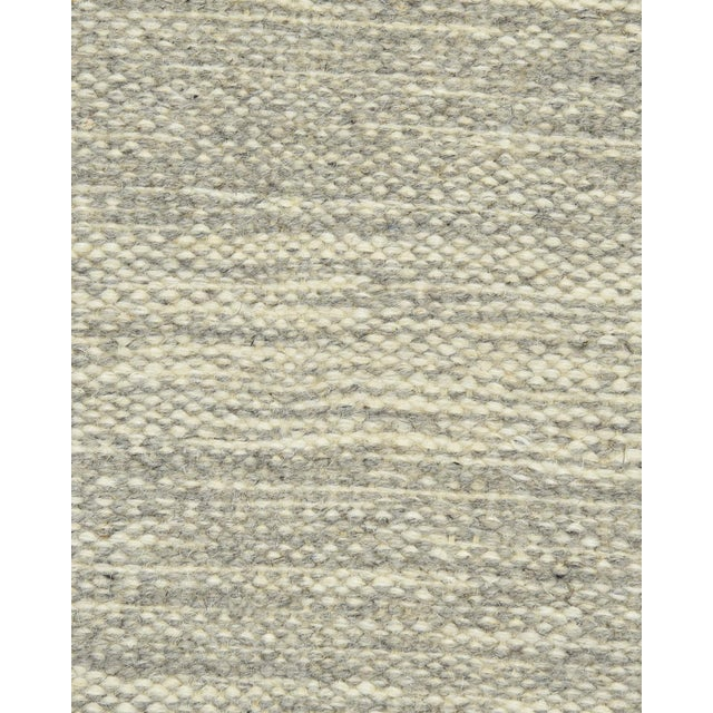 Color: Silver - Made In India. Notable for their unique construction, our Flatweave rugs are extremely durable, perfect...