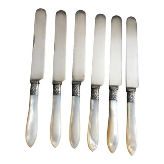 Vintage Silver Dessert Knives - Set of 6 For Sale