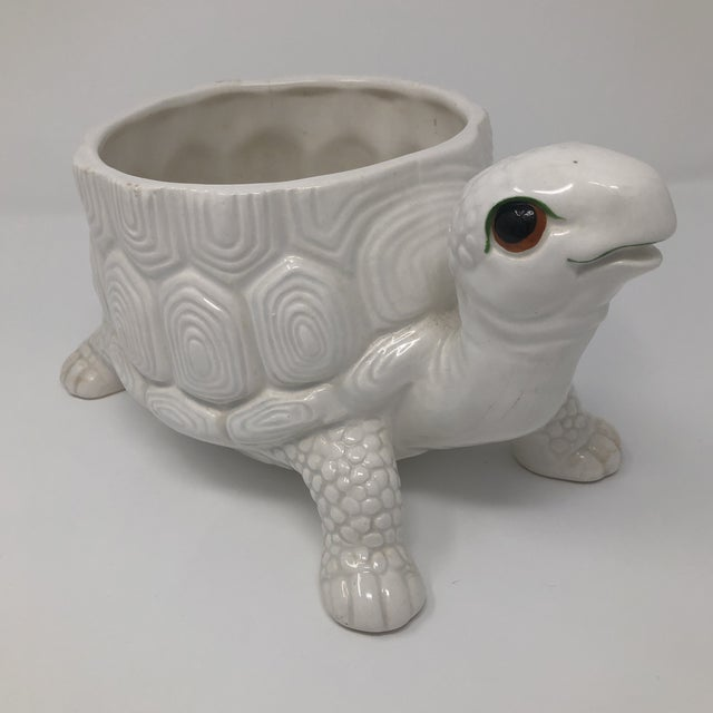Vintage Fitz and Floyd Ceramic Turtle Planter Vase For Sale - Image 9 of 9