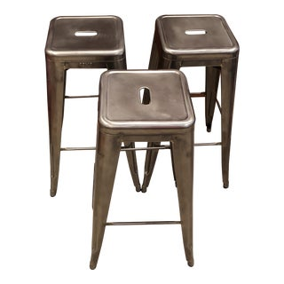 21st Century Vintage Toilx Counter Stools- Set of 3 For Sale