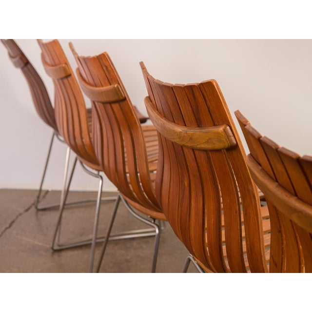 Bentwood Hans Brattrud Scandia Dining Chairs - Set of 5 For Sale - Image 7 of 12
