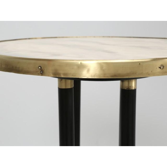 Antique French Empire Side Table Ebonized For Sale - Image 12 of 13