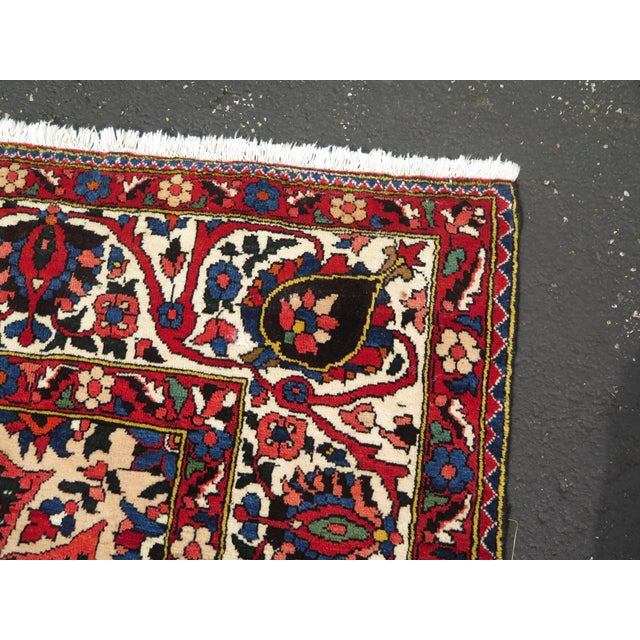 Traditional Vintage Hamadan Style Rug- 8′7″ × 12′2″ For Sale - Image 3 of 11