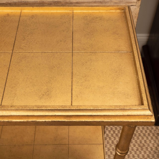 Gold Console Table For Sale - Image 4 of 10
