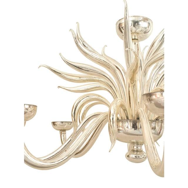 Italian Post-War Design Italian Venetian Murano Chandelier For Sale - Image 3 of 5