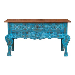 Azure Nahuala Console Table For Sale