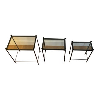 Canvas Home Bed Side Tables - Set of 3 For Sale