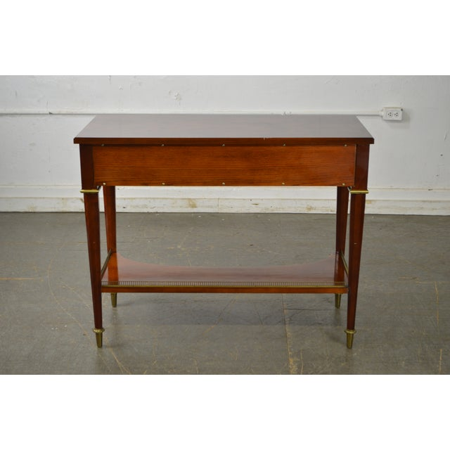 Brass John Widdicomb Neo Classical Style Bronze Mount 1 Drawer Console Table For Sale - Image 7 of 13