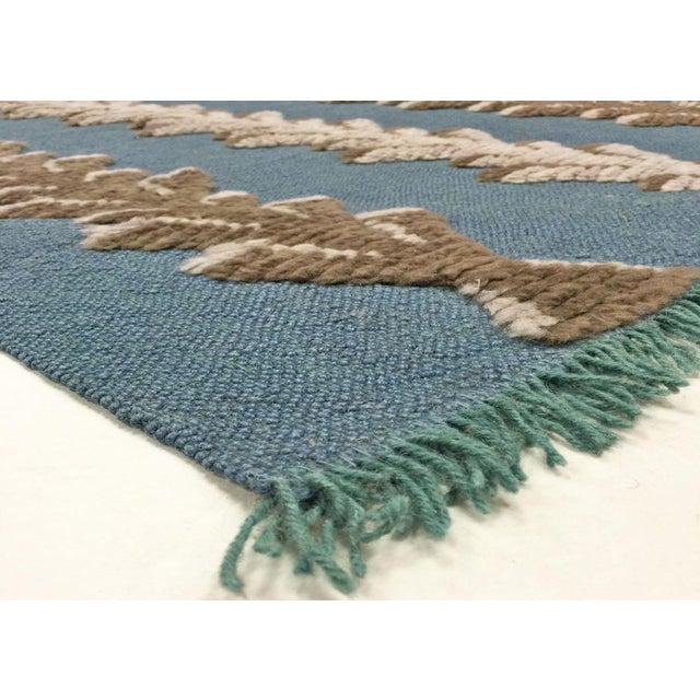 Vintage Turkish Tulu Carpet. Hand woven with Angora wool on wool kilim foundation in the Konya region of central Turkey....