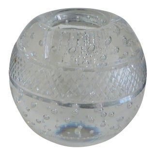 Antique Crystal Match Strike Ball