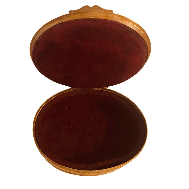 Antique French Bronze Dore Portrait Box For Sale In Tampa - Image 6 of 7